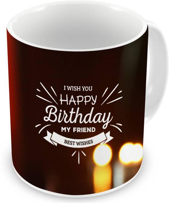 Gemshop I Wish You Happy Birthday My Friend Best Wishes Text Printed