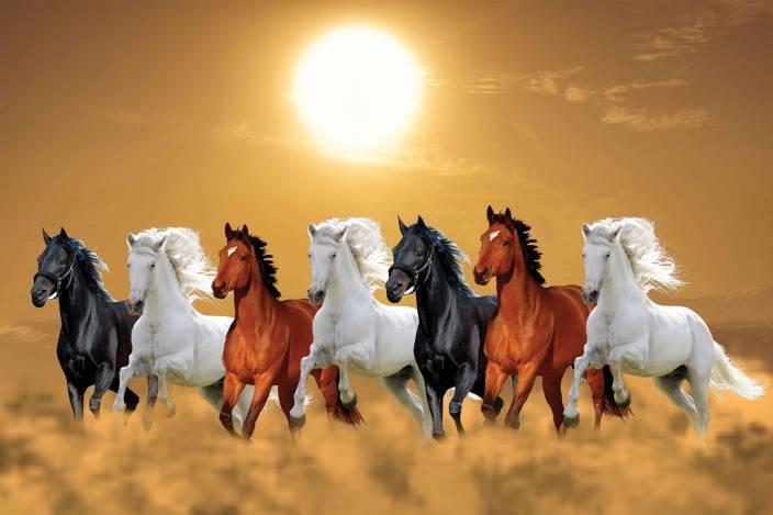Exclusive Azohp3249 Seven Running Horses Vastu 7 Horses Seven Horses