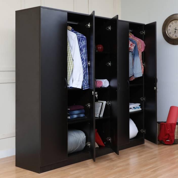 e400aac93 Home Full Eric Engineered Wood 5 Door Wardrobe Price in India - Buy ...