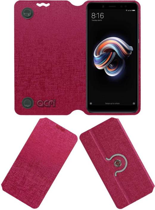 finest selection e9239 a27ef ACM Flip Cover for Mi Redmi Note 5 Pro - ACM : Flipkart.com