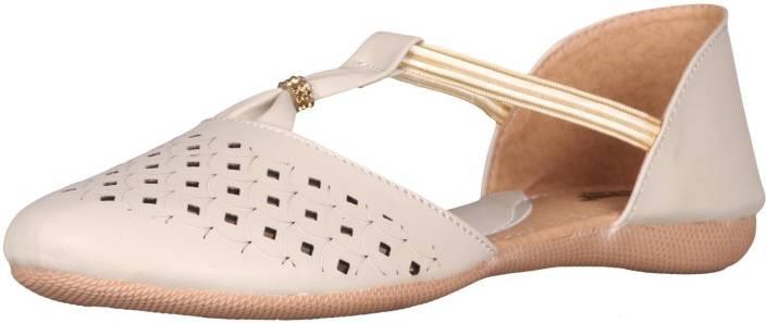 babcca8b0dd3 Footshez Laser Cut Flat Bellie Shoe Sandals For Women And Girls Bellies For  Women (Beige)