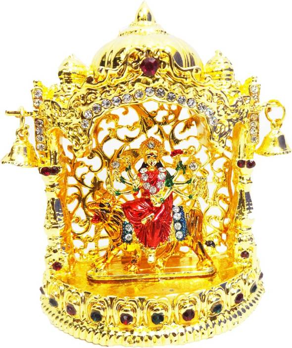 FABZONE Gold Plated With Stone Finish Hindu Goddess Durga