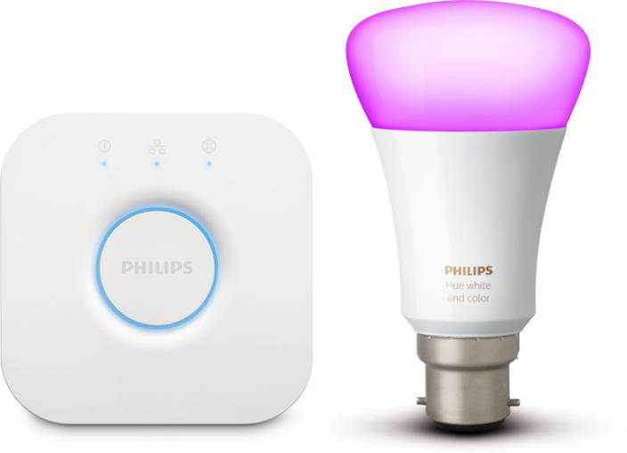 Philips Hue Mini Starter Kit With 10 Watt B22 Bulb White Ambiance Color Price In India