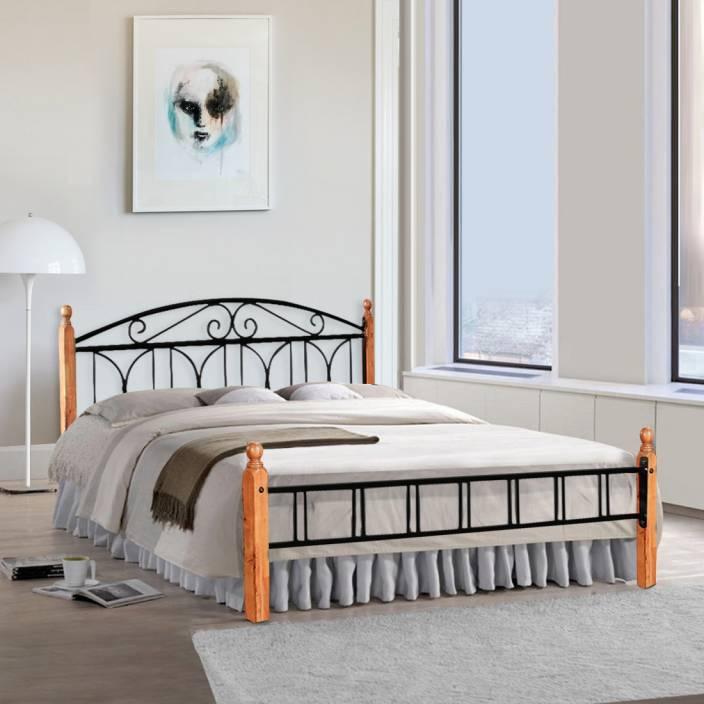 FurnitureKraft Georgia Metal King Bed