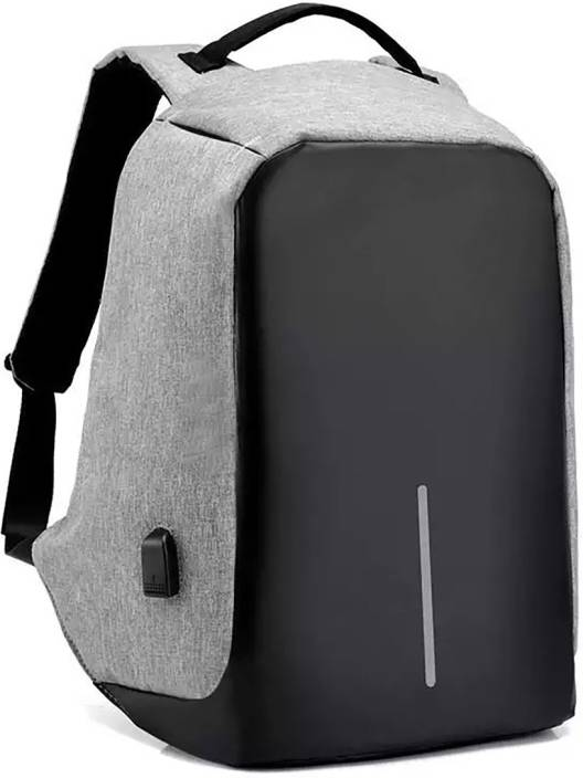 Fur Jaden Grey Anti Theft Water Proof Laptop with Charging Point 20 L Backpack