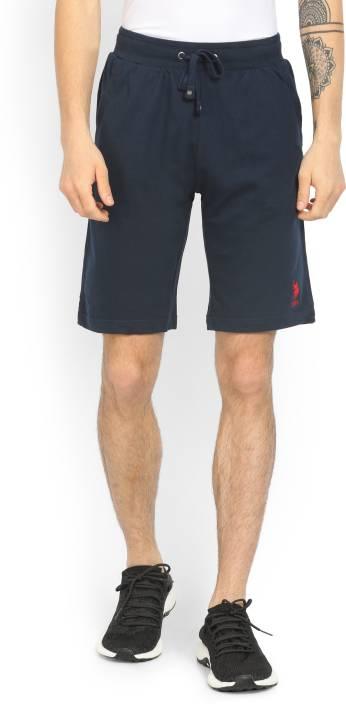 691475ee194f4 U.S. Polo Assn Solid Men Dark Blue Bermuda Shorts - Buy Navy U.S. Polo Assn  Solid Men Dark Blue Bermuda Shorts Online at Best Prices in India |  Flipkart.com