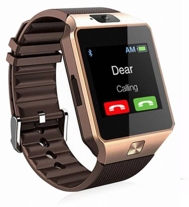 7187c28b8d6f DRUMSTONE DZ09 Smartwatch With SIM SLOT MEMORY CARD SLOT and camera support  Compatible With Android   IOS Devices Smartwatch (Brown Strap Free Size)