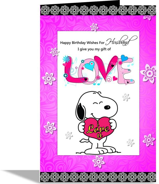 Alwaysgift Happy Birthday Wishes For Husband Greeting Card Multicolor Pack Of 1