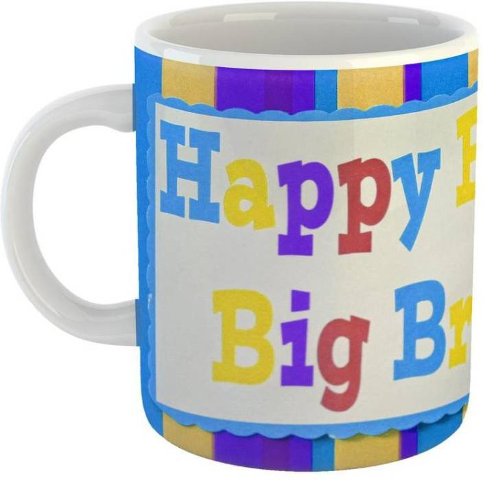 GiftOwl Happy Birthday Big Brother Coffee For Of Friends Giftfamily With Glossy Finish Vibrant Print 350 Ml Capacity Ceramic Mug 330