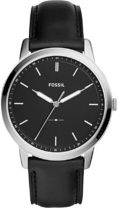 75178826eb79 Fossil FS5398 The Minimalist Three-Hand Black Leather Watch Watch - For Men  - Buy Fossil FS5398 The Minimalist Three-Hand Black Leather Watch Watch -  For ...