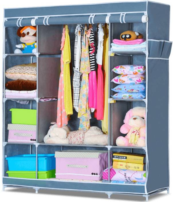 4310beb3cdd FurnCentral 3 Door PP Collapsible Wardrobe Price in India - Buy ...