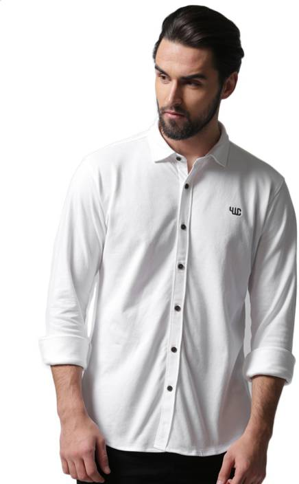 1a1fddf673f YOUWECAN Men Solid Casual Spread Shirt - Buy YOUWECAN Men Solid Casual  Spread Shirt Online at Best Prices in India