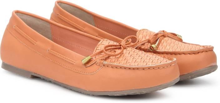 Bata GRETCHEN Loafers For Women - Buy Orange Color Bata GRETCHEN ... 87df2a152