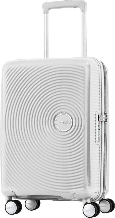 American Tourister Curio Spinner Cabin Luggage - 22 inch White ... d40404633c