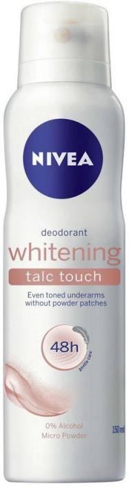 Nivea Whitening Talc Touch Deodorant Spray  -  For Women