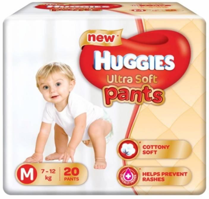 Huggies Ultra Soft Medium Size Premium Diapers - M
