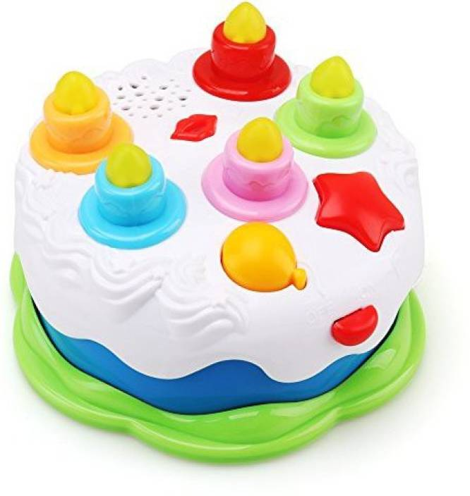 Amy Benton Kids Birthday Cake Toy For Baby With Counting Candles Music Pretend Play