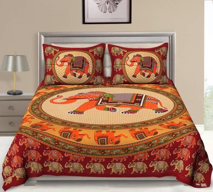 Flipkart SmartBuy 104 TC Cotton Double Animal Bedsheet
