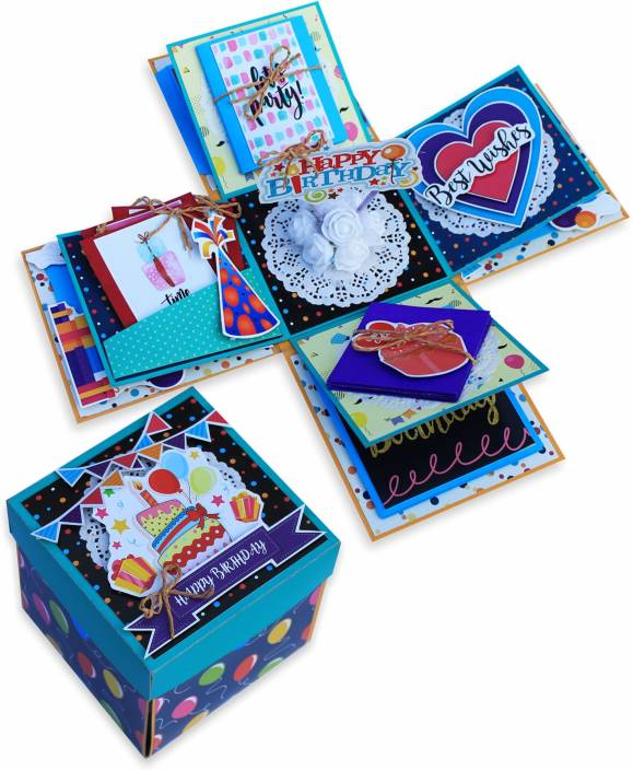 Paperica Handmade Explosion Box Bonding Gift Personalised For Birthday Greeting Card Multicolor Pack Of 1