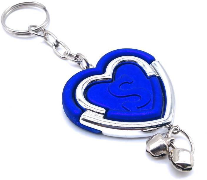 Insasta Initial Letter Keychain in heart shape Letter S -Blue Edition Keychain  Key Chain Price in India - Buy Insasta Initial Letter Keychain in heart  shape ... b69b451323