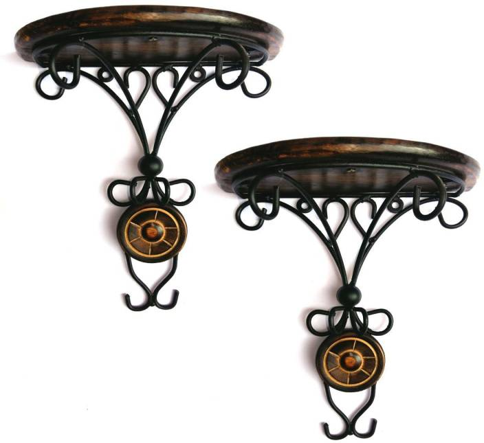 Jk Handicrafts Combo Pair Of Wooden Wall Bracket Wall Hanging Da C Cor