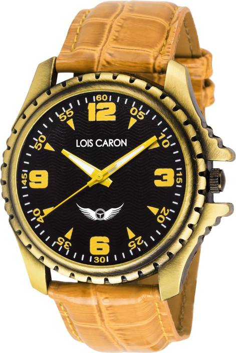 Lois Caron Lck-4039 Stylish Tan MULTICOLOR DIAL Watch  - For Men