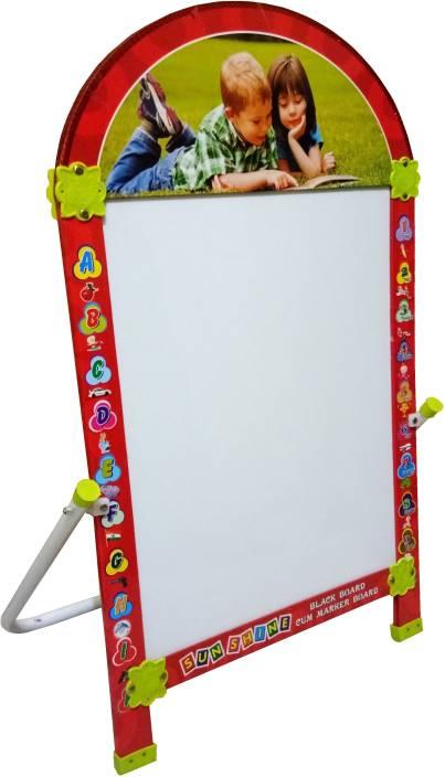 Sunshine International Blackboard With Whiteboard Marker Board For Kids Multicolor Maroon