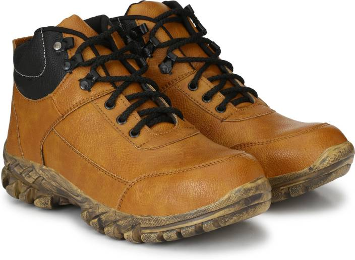 Manslam Safety Shoe with Steel Toe Boots For Men