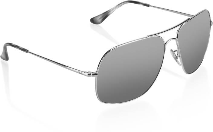 0b9c23f0da Buy Ray-Ban Wrap-around Sunglasses Silver For Men Online   Best ...