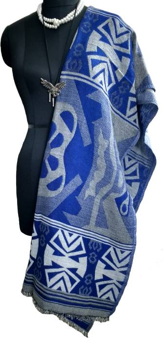 fabbrica Solid Acrylic, Cotton, Polyester Women's Stole