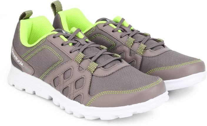 74d860738a0e2 REEBOK RUN FUSION LP Running Shoes For Men - Buy STONE GREY NEON ...