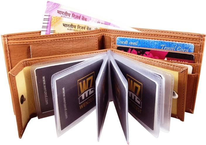 Wenzest Men Formal Tan Artificial Leather Wallet