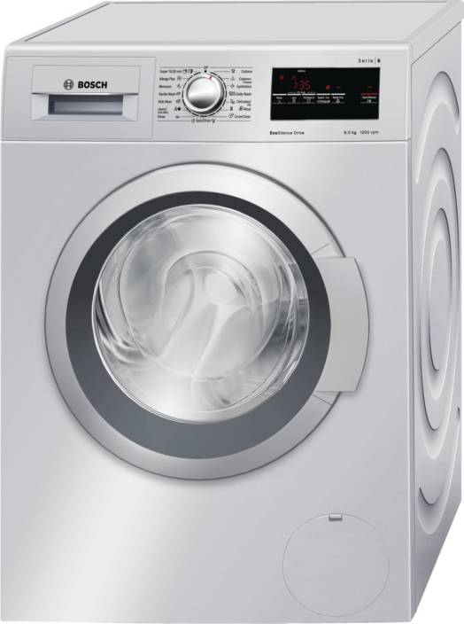 Bosch 8 kg Fully Automatic Front Load Washing Machine Silver