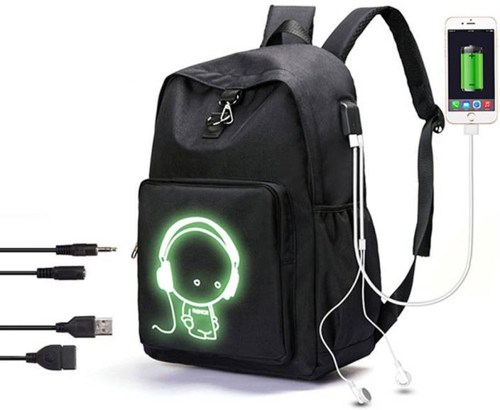 fd2fa08c613d Bluebird ™ Anti-Theft Backpack Laptop Bag with USB charging Port and AUX  Port and Luminous function (Black