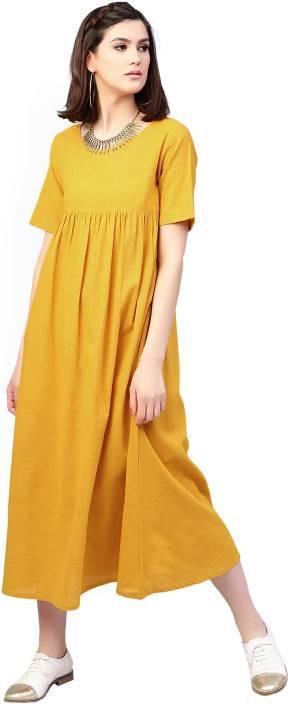 f4803d05873 Aks Women s Maxi Yellow Dress - Buy Aks Women s Maxi Yellow Dress ...