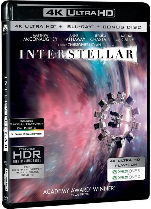 Interstellar (4K UHD + Blu-ray + Bonus Disc) (3-Disc Box Set) (4K(UHD)  Blu-ray English) 25e3c588edcf3