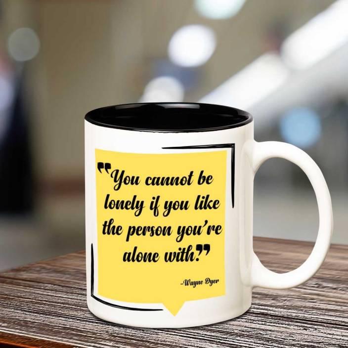 Chanakya Motivational Quote By Wayne Dyer Inner Black Coffee Mug