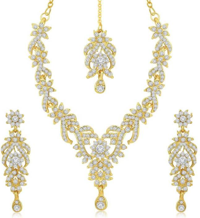 Jewellery Sets Sukkhi Zinc Jewel Set Gold