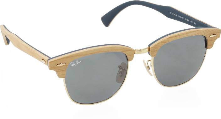 96d3ab52dd07f Buy Ray-Ban Clubmaster Sunglasses Blue For Men Online   Best Prices ...