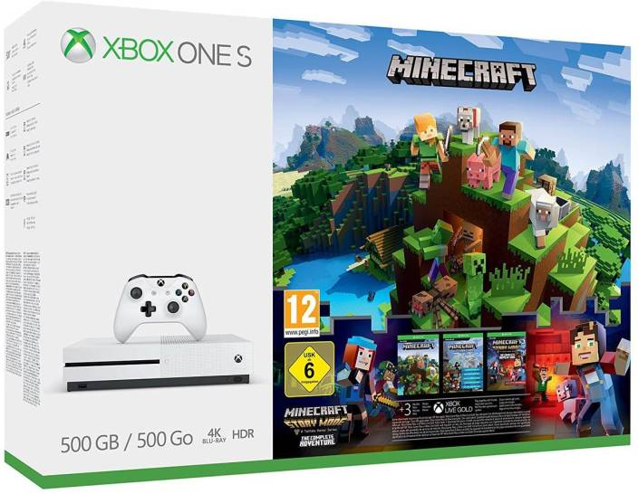 Microsoft XBox One S 500GB GB with Minecraft Price in India