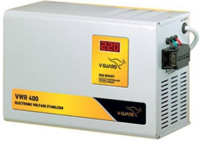 V-Guard VWR 400 for AC upto 1 5 Ton (130V- 300V) Voltage Stabilizer