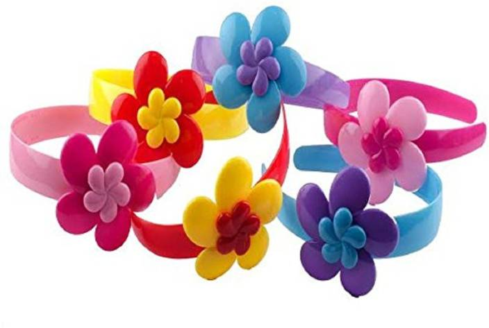 INAAYA Easy To Wear Plastic Multi-Colour Hair Bands For Girls  00a4988da1d