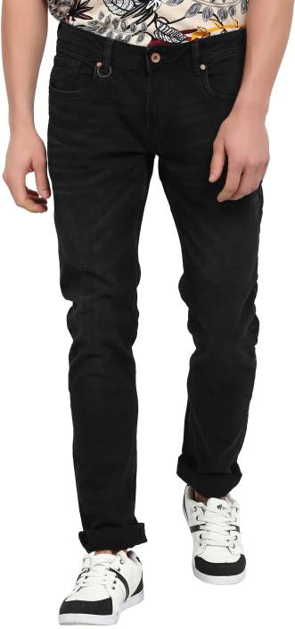 Peter England University Slim Mens Black Jeans