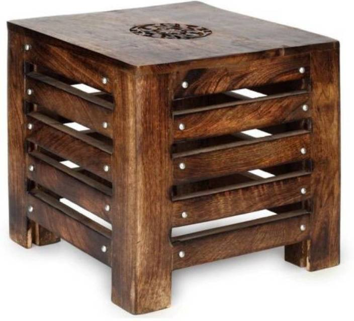 Khan Handicrafts Wooden Antique Stool Stool Price In India Buy