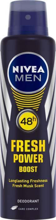 Nivea Men Fresh Power Boost Deodorant Spray  -  For Men