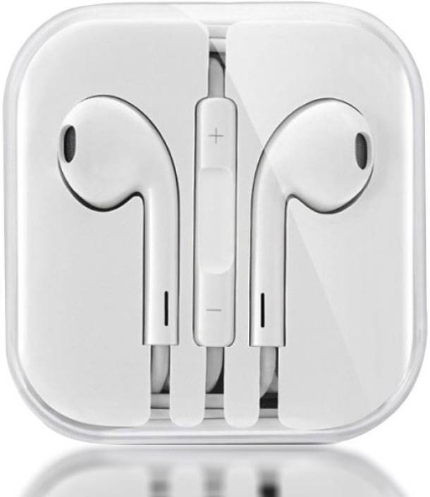 5307c0fe16b BUY GENUINE 100% Original & Genuine Best Buy stereo Apple AirPods iphone  Earphones/Handree EarPods with 3.5mm Headphone Wired Headset with Mic  (White, ...