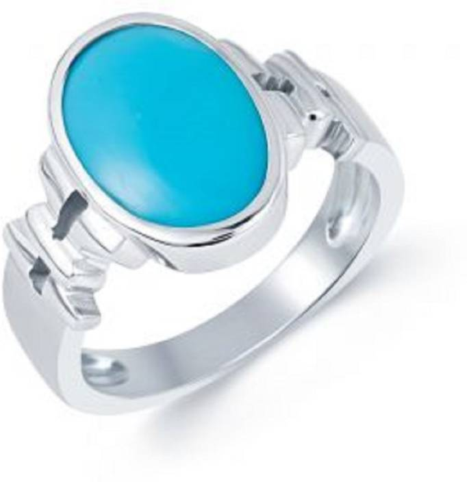 477a9805a30b7 Jaipur Gemstone Natural Turquoise [ Irani Firoza Stone ] Ring Stone  Turquoise Silver Plated Ring