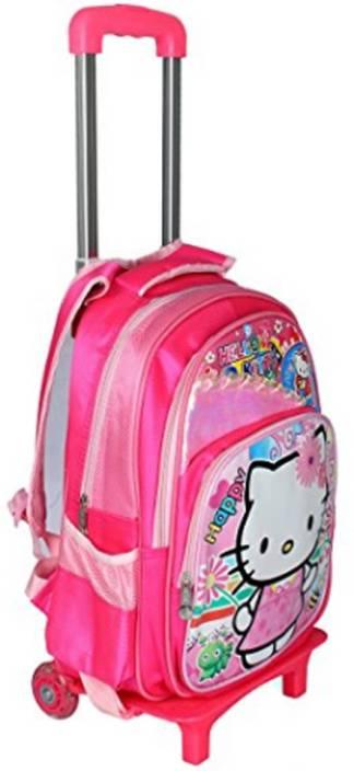 9e0fdd7e828 GOCART Trolley Bag With Pink Kitty Waterproof Multipurpose Bag (Pink, 22 L)