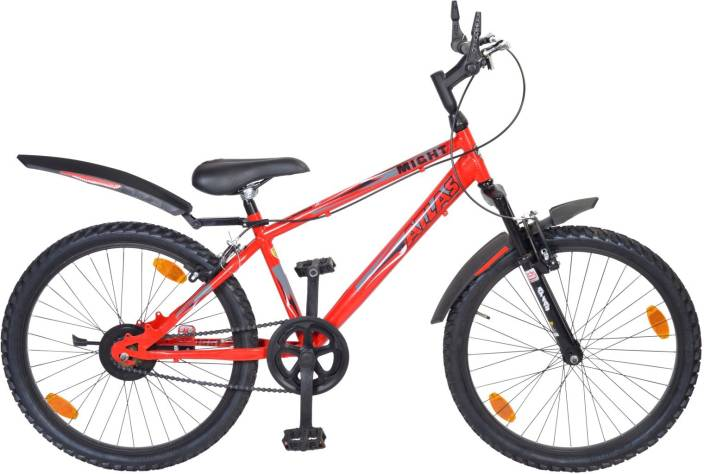 Atlas Might Front Suspention Bike For Teens Red&Balck 24 T Mountain/Hardtail Cycle
