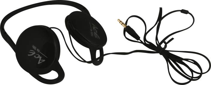 37756798156 aaceinlife Ace HD 251 Neckband Headphones with Silicone Ear Tips for Best  Fit (Black)